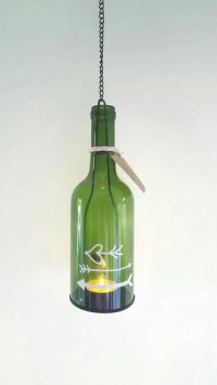 Wine bottle lamp recycled light garden light porch party