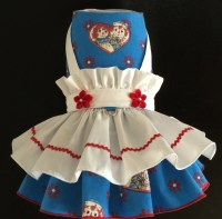 Raggedy Ann Costume Dog Dress for small toy by ...