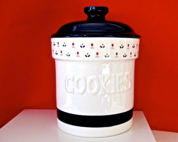 Blue Ceramic Cookie Jar