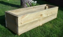 Large Decking Wooden Garden Planter 800 1000 1200mm Wood