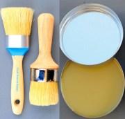 2 boar hair chalk paint brushes