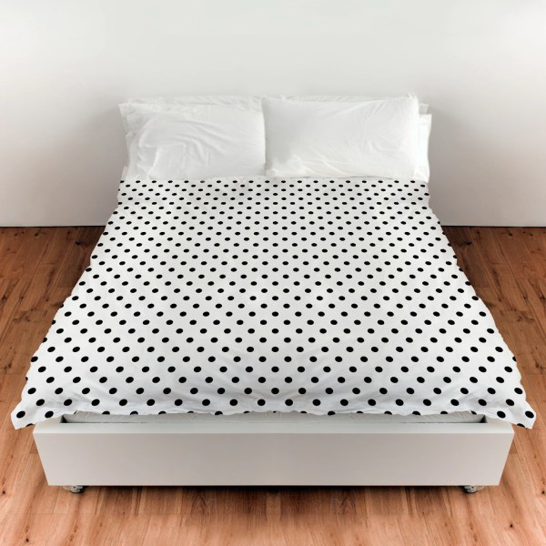 Black and White Polka Dot Comforter