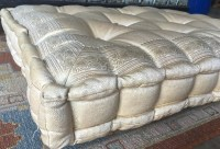 Cream sitting cushion Meditation tufted floor by TaraDesignLA