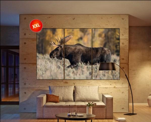 Moose Wall Art Canvas