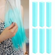 6 temporary turquoise mint