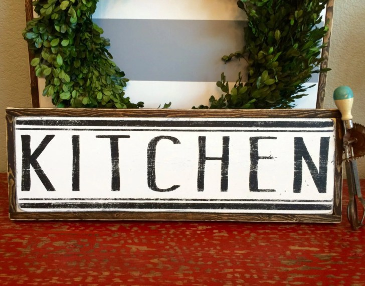Kitchen Sign Decor Farmhouse Style Eversolettered