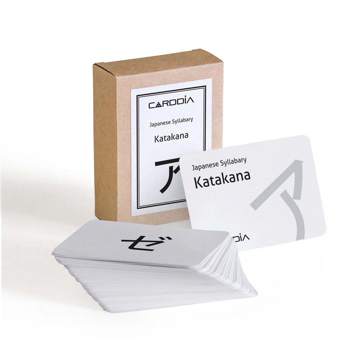 Japanese Syllabary Katakana Flashcards