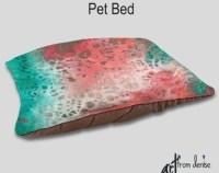 Jewel tone dog bed Decorative Pet bed Designer Home decor