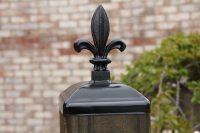 Decorative Fleur De Lis Fence Post Cap for 6x6 Wood/Composite