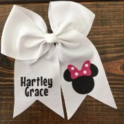 minnie mouse hair bow personalized