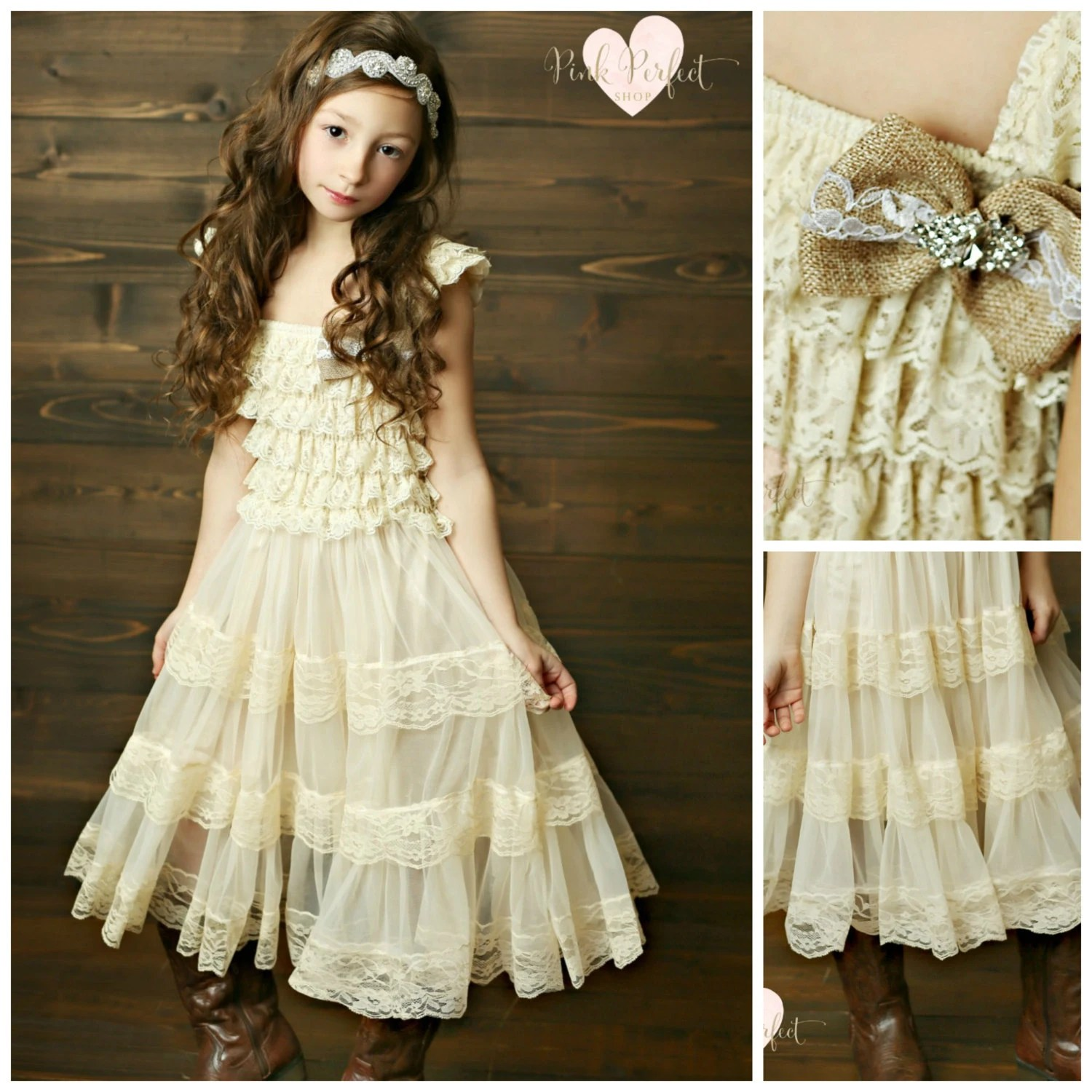 Lace Flower Girl Dress Flower Girl Dresses Country Flower