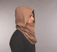 Men infinity scarf / hooded scarf / hooded scarves / beige