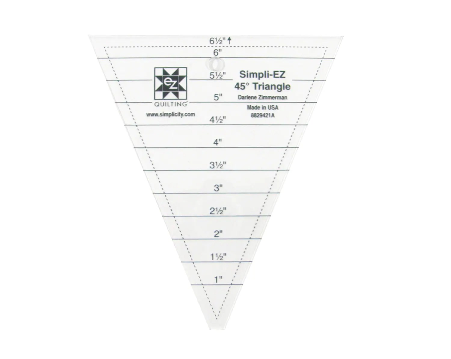 45 Degree Triangle Acrylic Quilting Template From