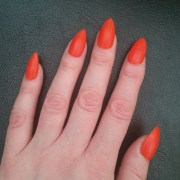 matte orange handpainted stiletto