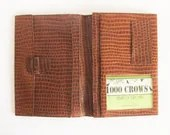 Vintage travel wallet, pa...