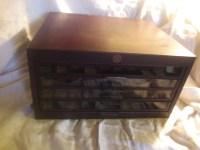 Antique Vintage Star Twist Thread Spool Cabinet Sewing