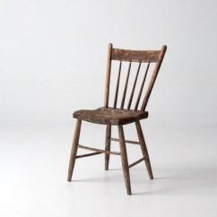 Antique Accent Chair Lounge Chairs Walmart Primitive Spindle Back Folk