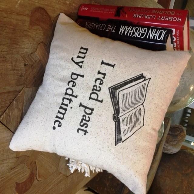 """Book Reading Pillow quote nerd geek teacher books book club, 12"""" x 12"""""""