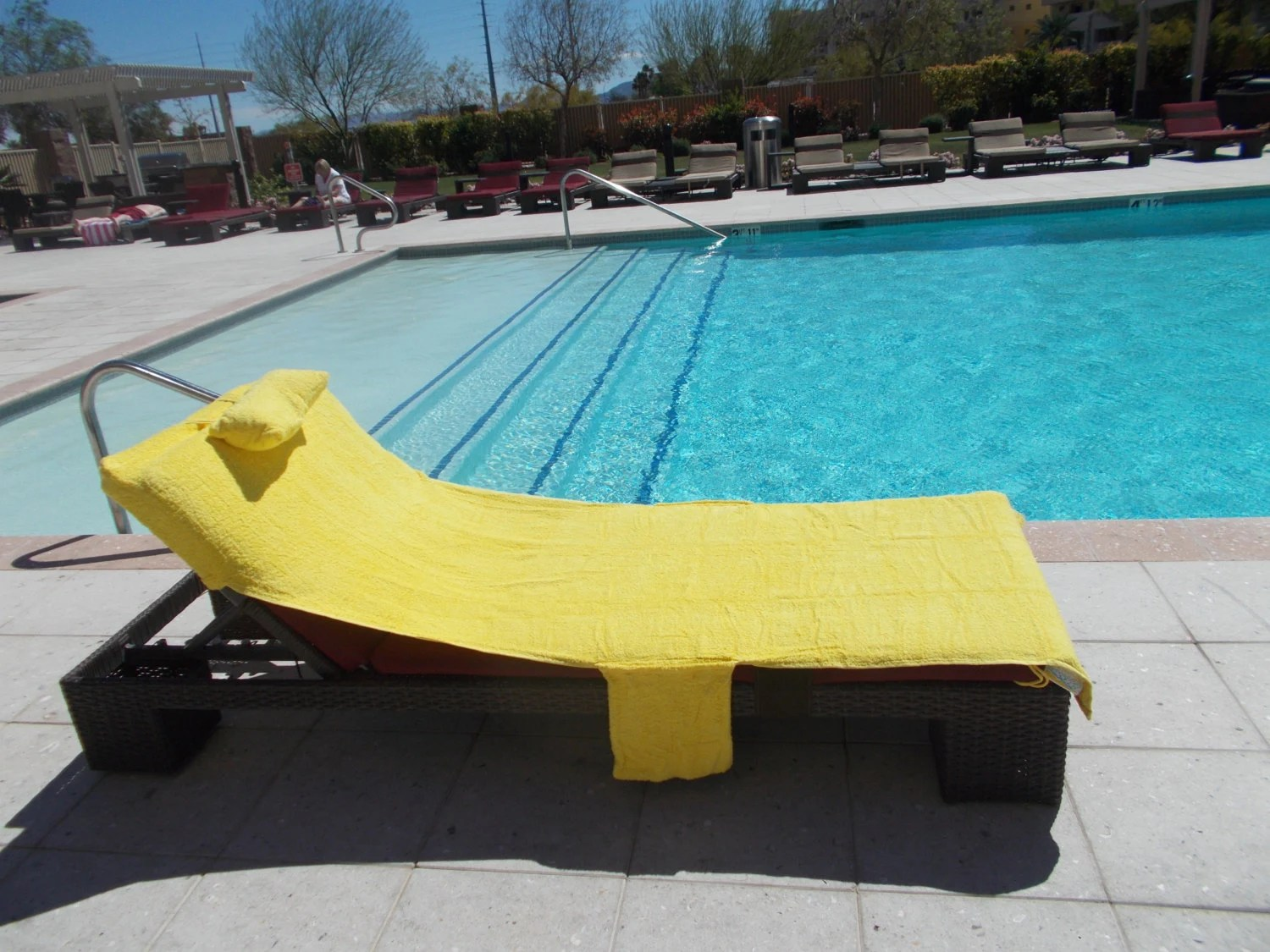 lounge chair towel covers reupholster a wingback sun yellow personalized beach pool cover up