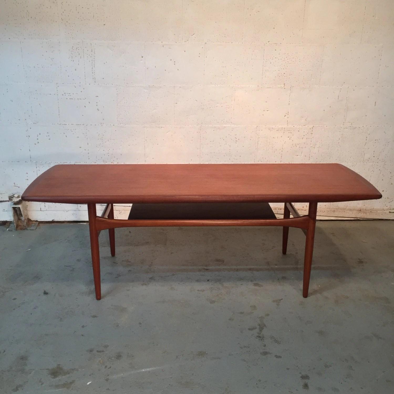 Vintage Danish Mid Century Modern Teak Coffee Table By Arrebo Mobler 575 Obo Free Nyc