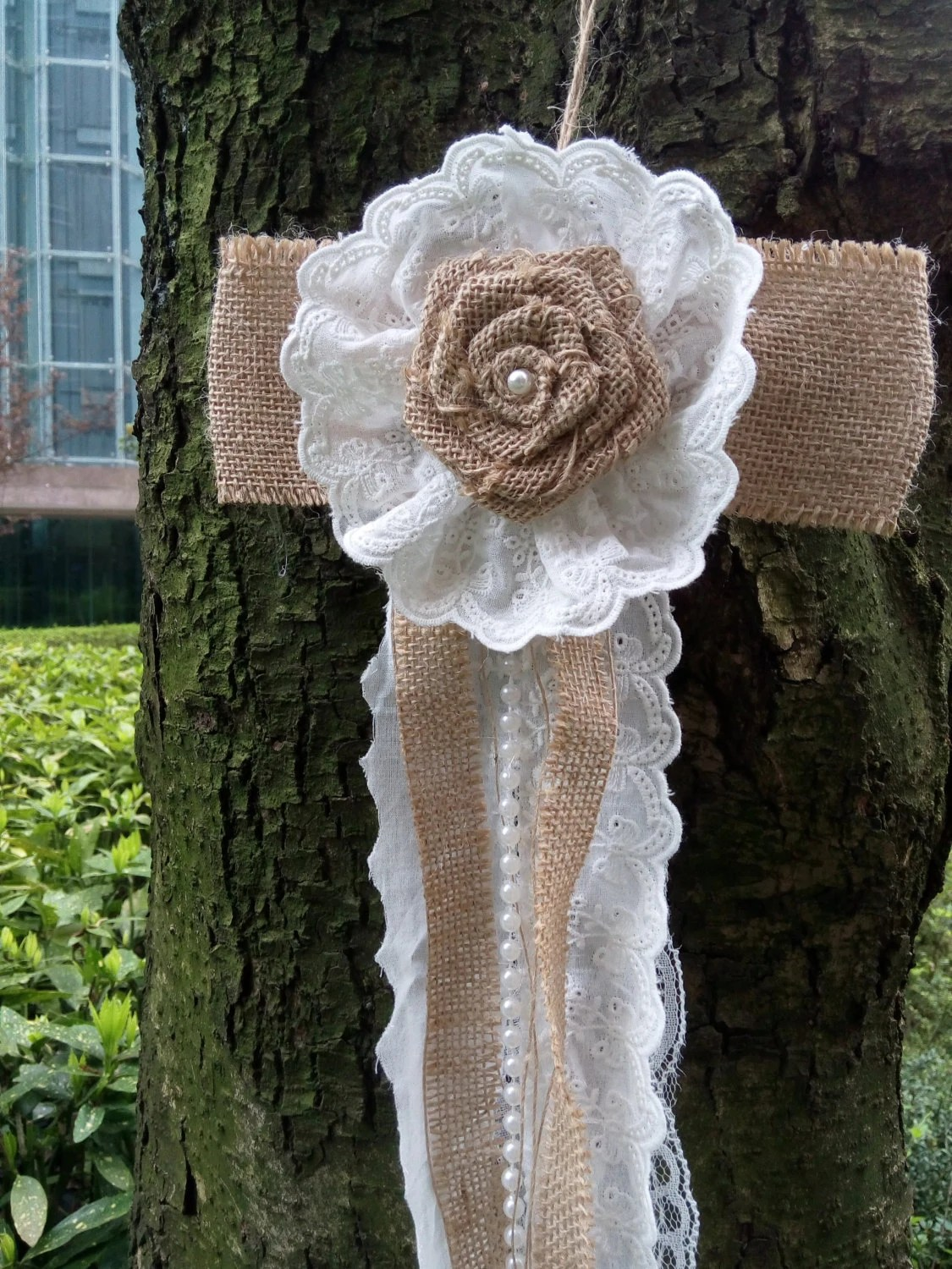 burlap bows for wedding chairs gold 10 vintage lace pew chair bow rustic