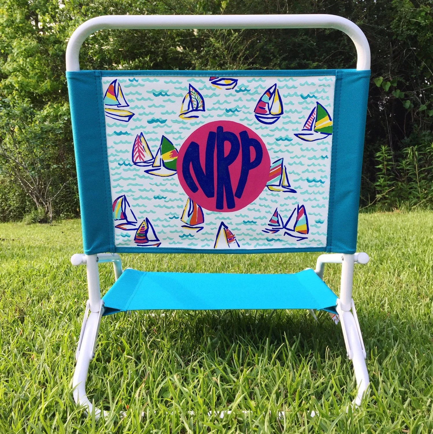 lilly pulitzer chair lion antique painted beach