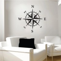 Compass wall decal nautical wall decal vinyl by SWVDesignCo