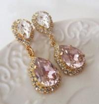 Blush EarringsChandelier earringsBlush Pink Earrings Estate