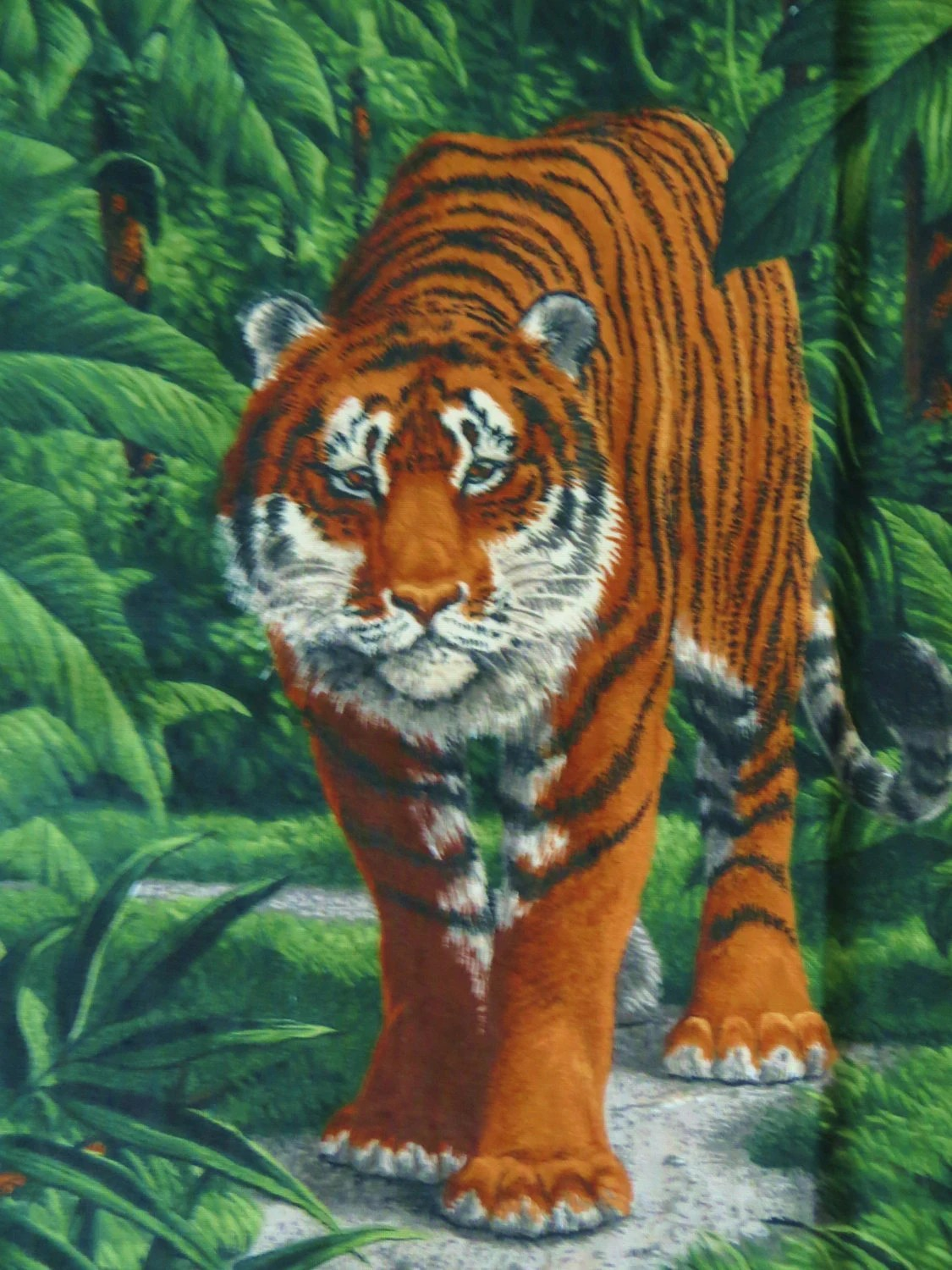 Tiger Fabric Panel for Sewing Pillows a Throw Wallhanging
