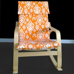 Chair Covers In India Red Dining Chairs Custom Indian Print Ikea PoÄng Cover Raji Orange