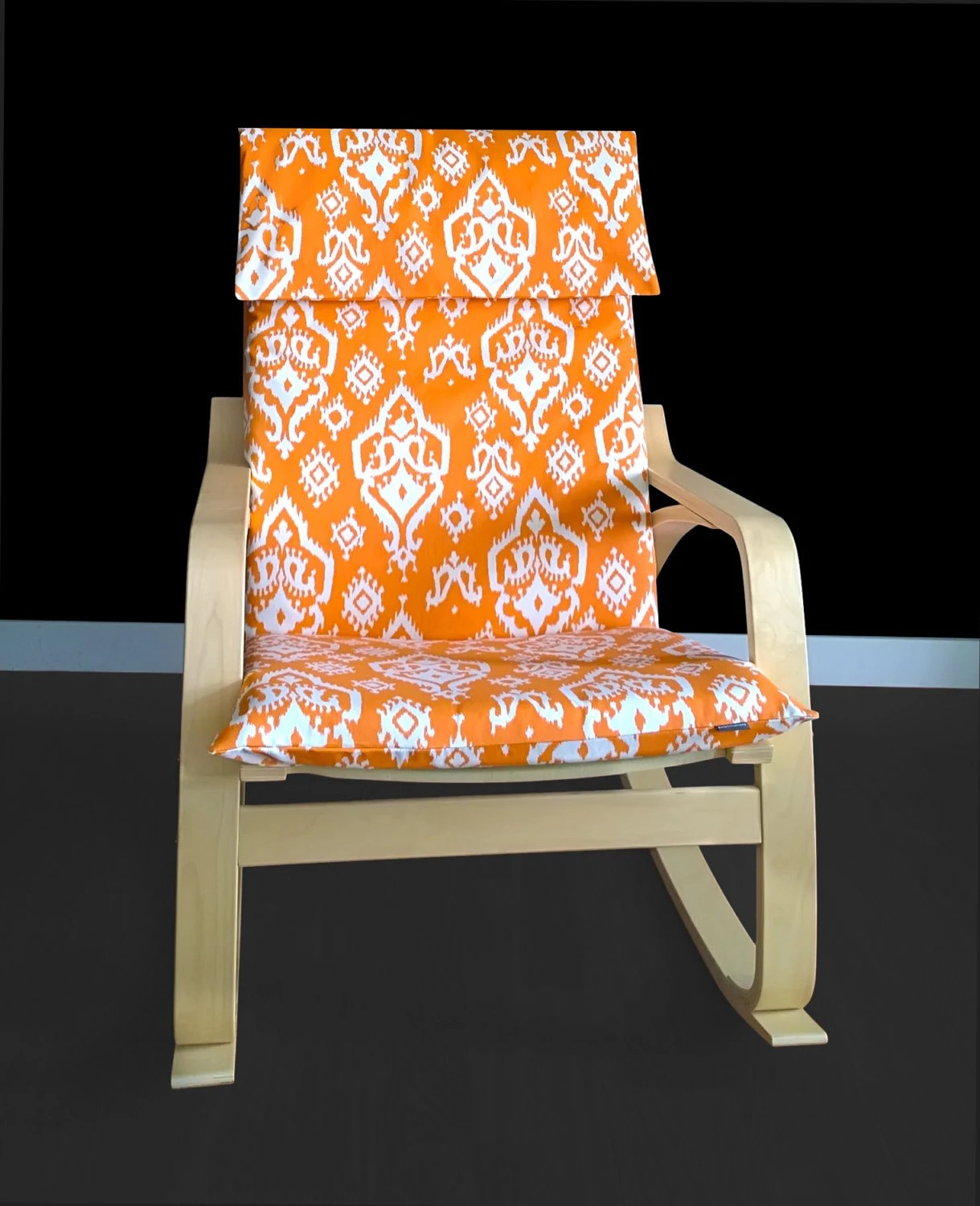 ikea orange chair covers toddler booster seat for kitchen custom indian print poÄng cover raji