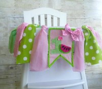 Pink Watermelon Picnic Birthday High Chair by ...