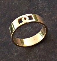 Gold band Men gold ring Mens wedding band Mens engagement