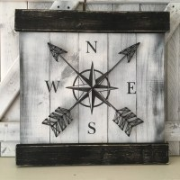 NAUTICAL WALL DECOR Compass Decor Rustic by ElevenOwlsStudio