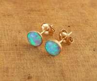 Opal Stud Earrings in 14K Gold filled / by BeSimpleJewelry ...