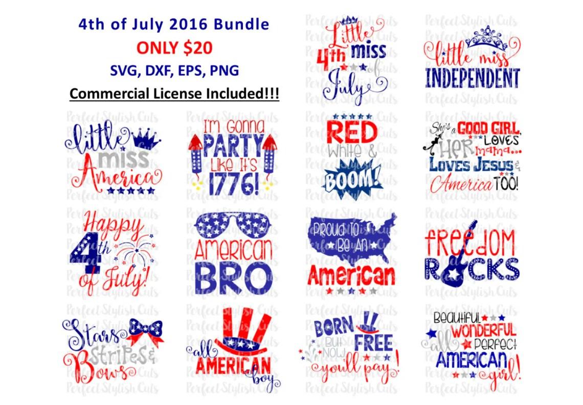 Download 4th of July Designs Bundle SVG DXF EPS png Files for