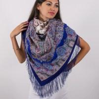 ELITE Russian shawl Pavlovo Posad 100% original russian Folk