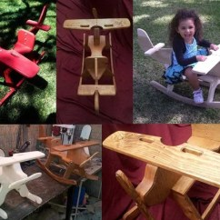 Unfinished Wood Rocking Chair Craigslist Dining Room Chairs Childrens Wooden Airplane Rocker By Gandgrockers