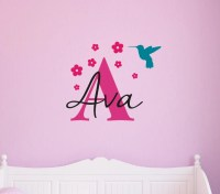 Personalized Wall Decals Nursery Wall Art Girls by ...
