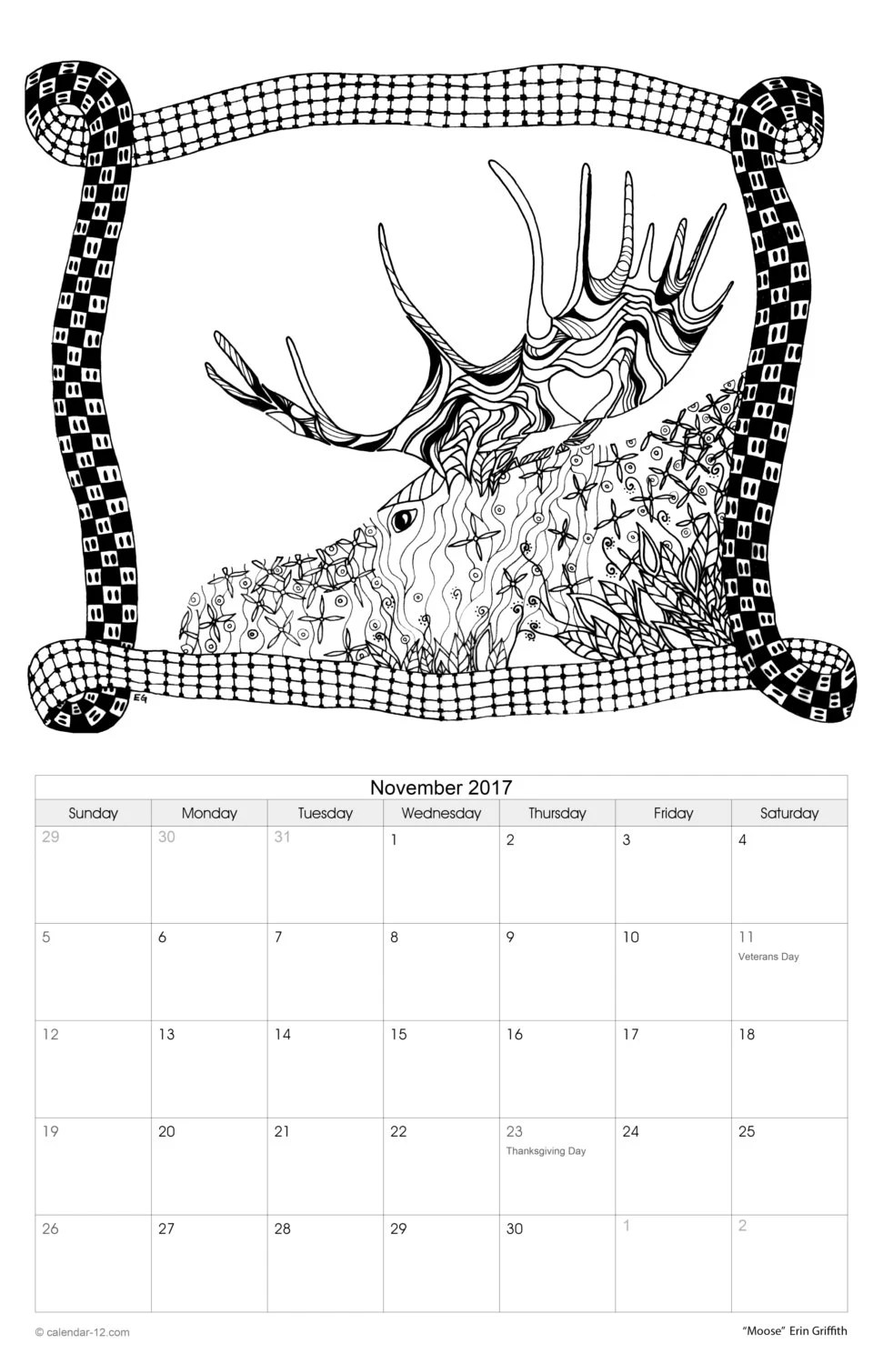 Items similar to COLORING 2013 Calendar on Etsy