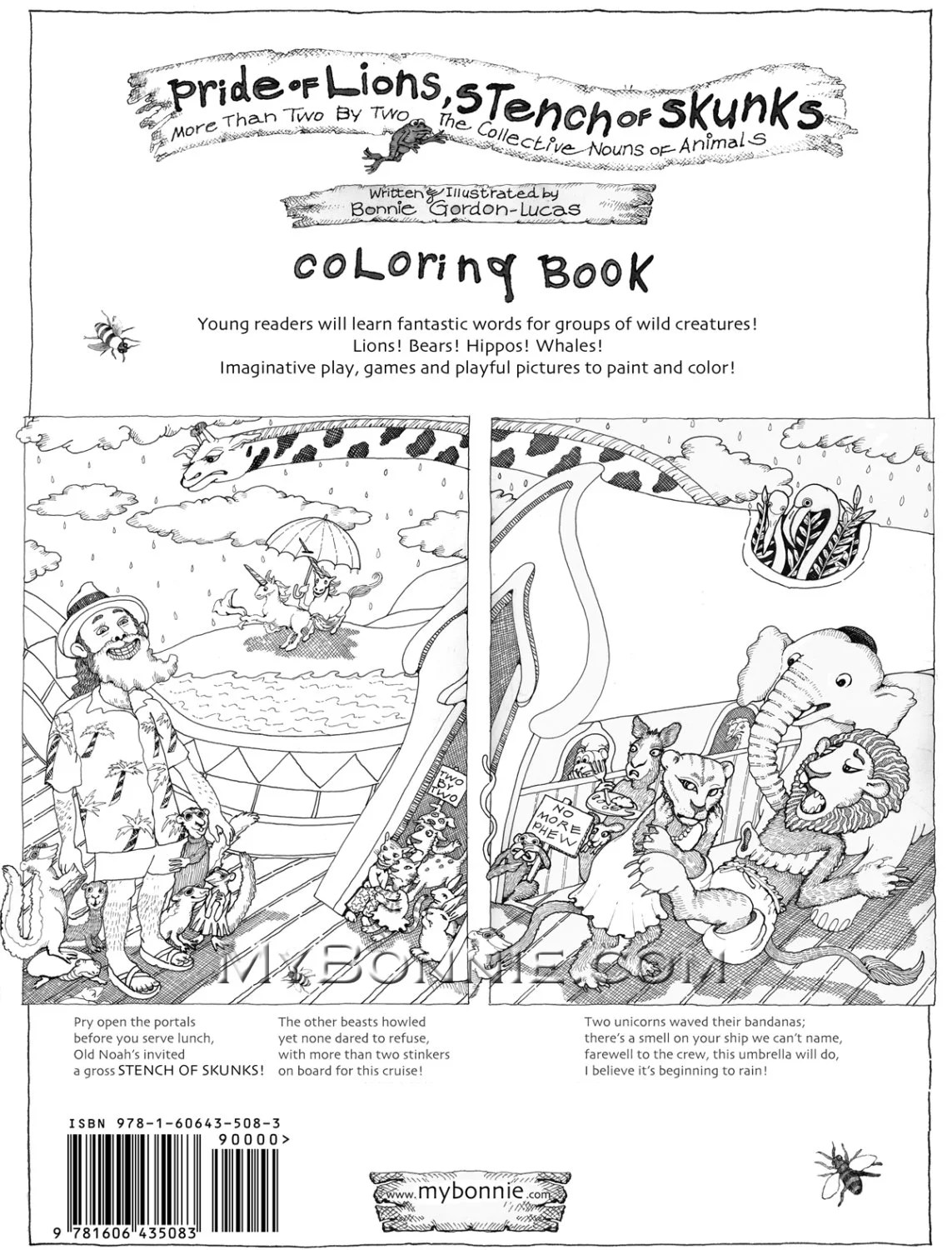 PRIDE of LIONS Stench of SKUNKS. Coloring Book. by