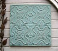 FRAMED 2'x2' Antique Ceiling Tin Tile. Vintage tin