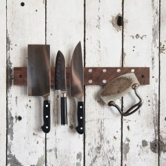Kitchen Knife Holder Eat At Island Mess Hall Rack Wood Magnetic Block