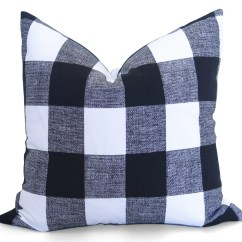 Buffalo Check Sofa Cover Baker Furniture Bed Pillow Black And White Plaid
