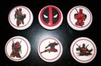 Deadpool superhero set / Bedroom Dresser Knob / Nursery