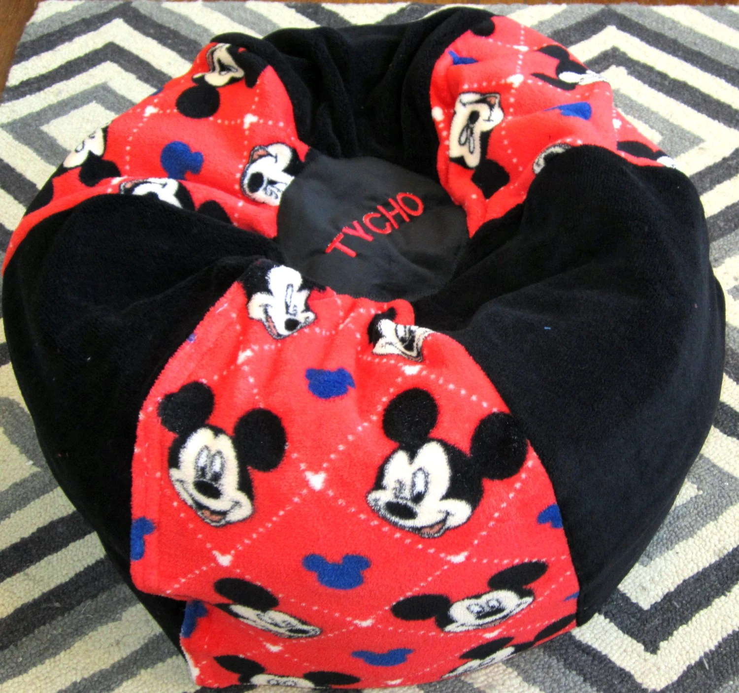 mickey mouse bean bag chair lounge cushion add red name floor kids