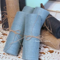 Burlap Chair Sashes Canada Country Style Wingback Chairs Faded Denim Ribbon 6 Quot Wide