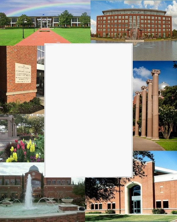Houston Baptist University Picture Frame Photo Mat Unique