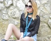 Turquoise Summer Scarf, F...