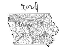 Popular items for iowa outline on Etsy